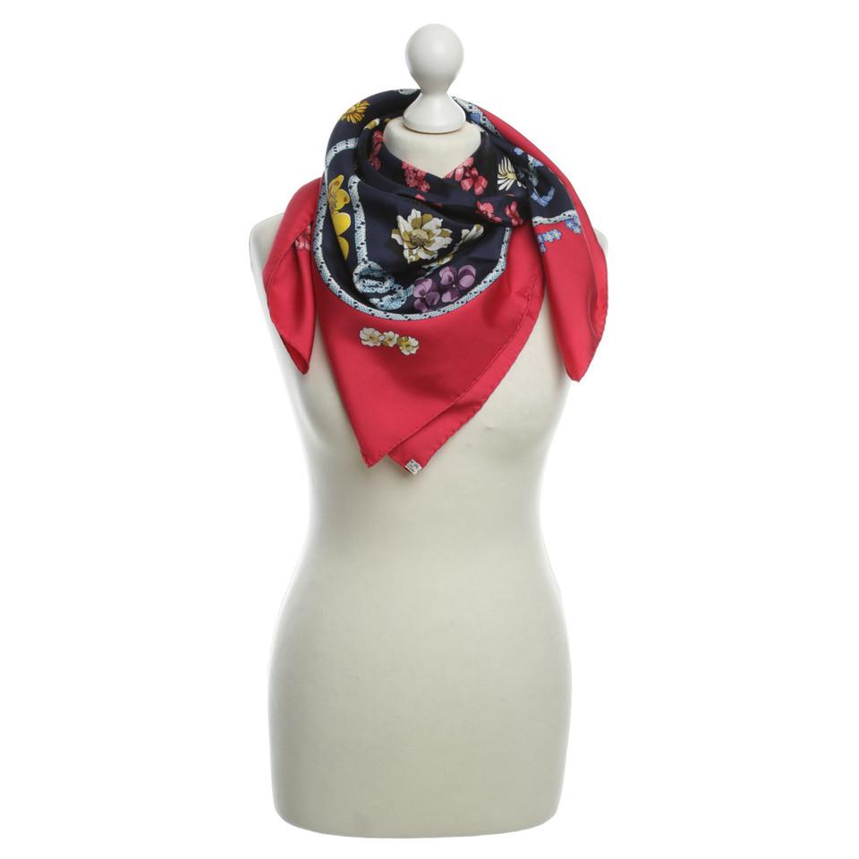 Hermès Doek met een bloemmotief