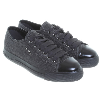 Prada Sneakers with glitter coating