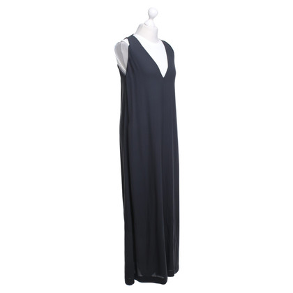 Brunello Cucinelli Maxi Dress in donkergrijs / wit