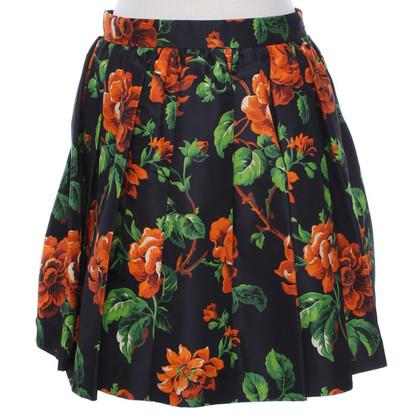 Miu Miu Seidenrock mit floralem Muster