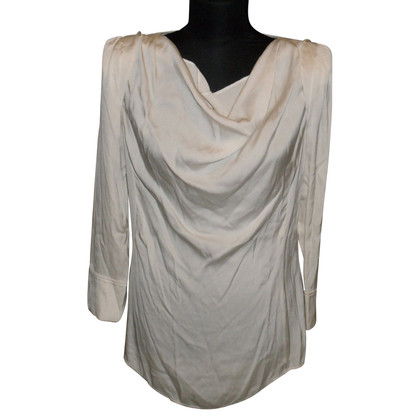 Laurèl Silk blouse with waterfall neck