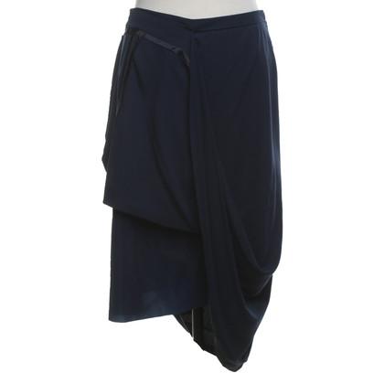 Maison Martin Margiela for H&M Dark blue skirt with draping
