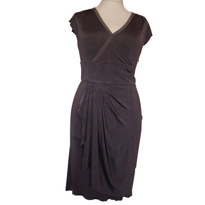 Philosophy di Alberta Ferretti Jersey dress in gunmetal grey