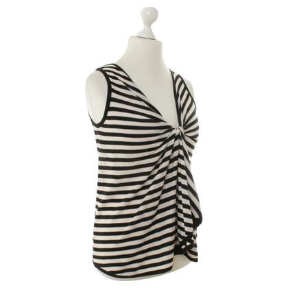 Sonia Rykiel Striped top with drap age