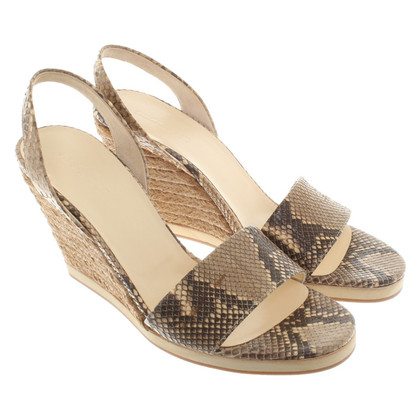 Jil Sander Wedge Sandals from snakeskin