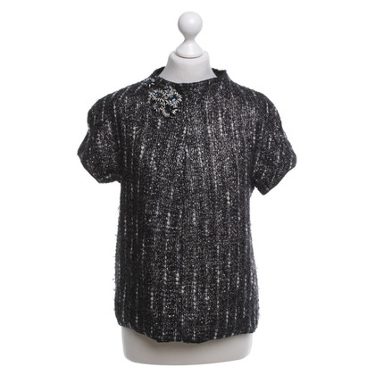 Prada top in black with pattern