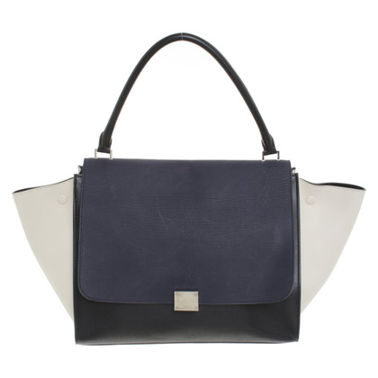 "Céline ""Large Trapeze Bag"" in Tricolor"