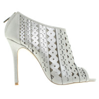 Karen Millen pumps with silver coating