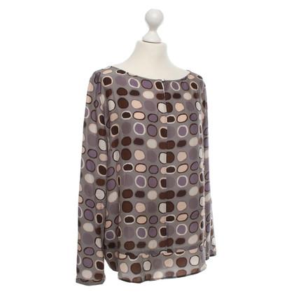 Luisa Cerano Zijden blouse met patronen