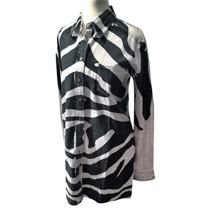 Pierre Balmain Shirt dress with zebra pattern