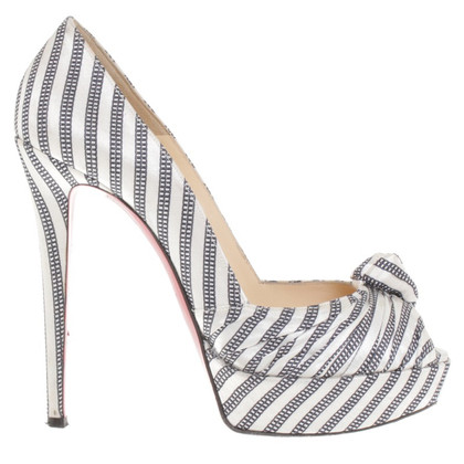 Christian Louboutin Peep-toes in black and white