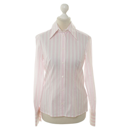 JOOP! Sommerliche Bluse in Weiß/Rosé