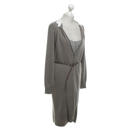 Fabiana Filippi Knitted dress in layered look