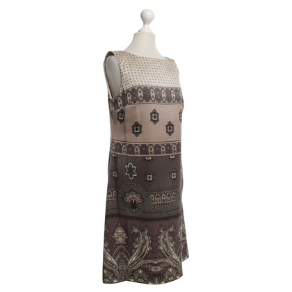 Maliparmi Silk dress with pattern