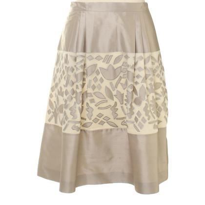 Max Mara Gray silk skirt