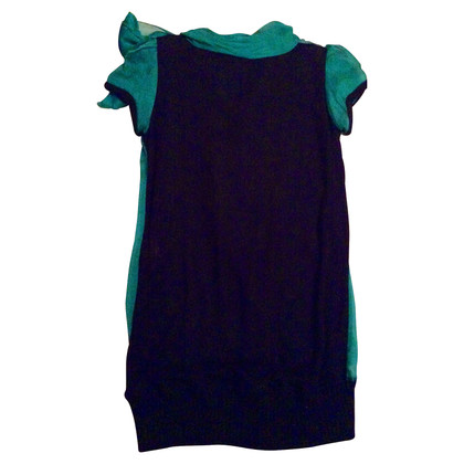 Dolce & Gabbana camicia fiocco di seta verde
