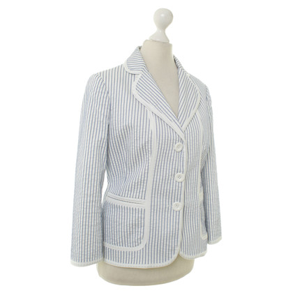 Moschino white striped jacket size 42