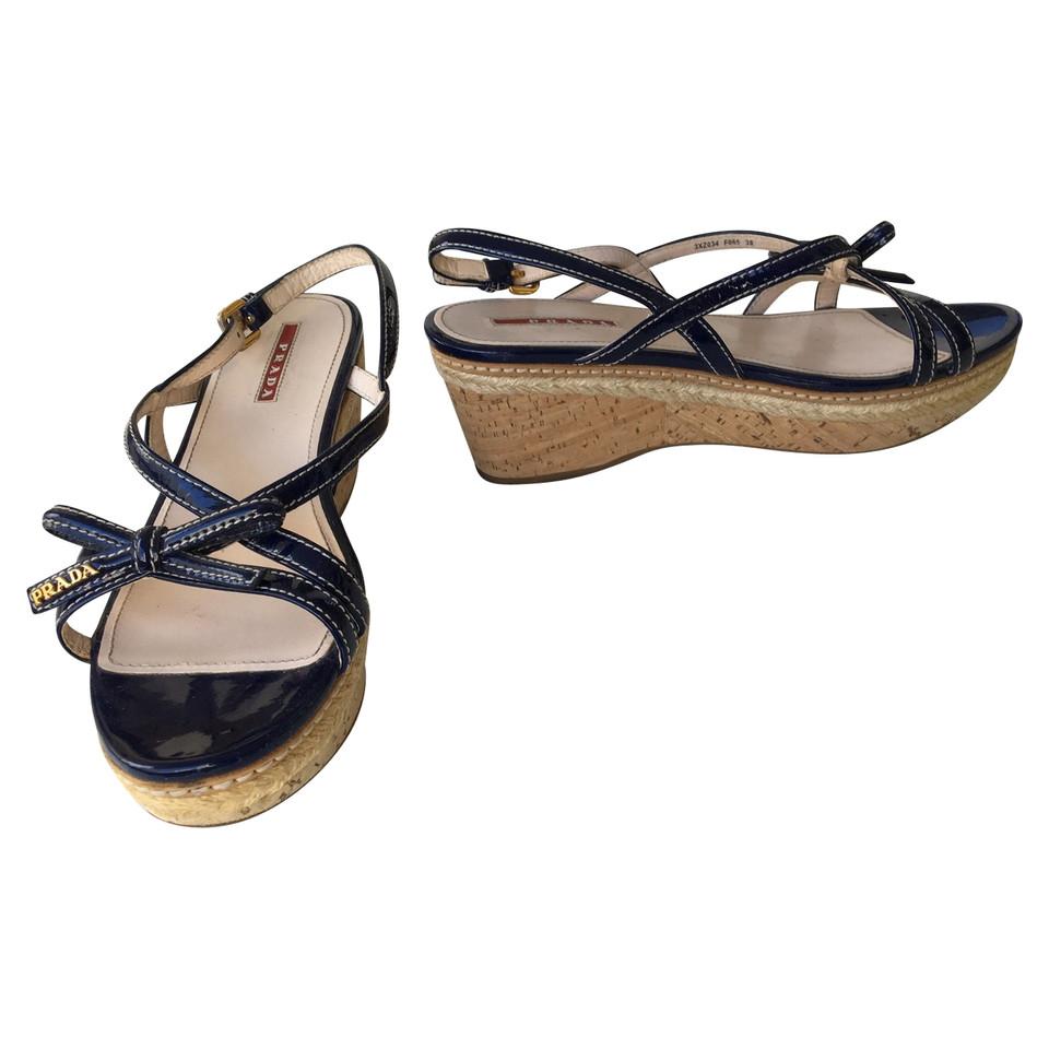 prada sandalen second hand prada sandalen gebraucht kaufen f r 189 00 1782557. Black Bedroom Furniture Sets. Home Design Ideas