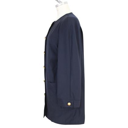 Valentino Valentino cape coat jacket blue