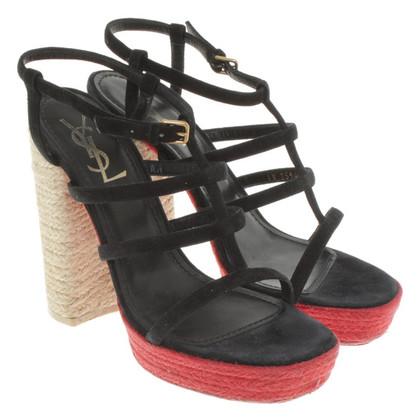 Yves Saint Laurent Sandals in black