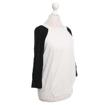 Karen Millen Knitted sweater in cream / black