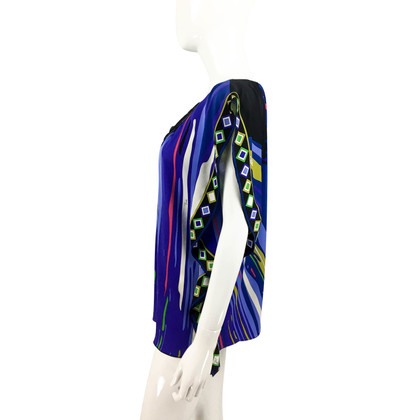 Emilio Pucci Embellished Printed Silk Jersey Blouse