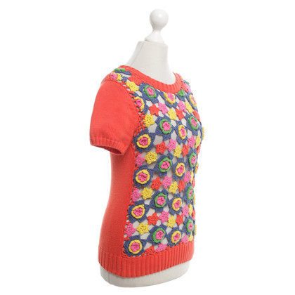 Manoush Camicia in maglia con fiori colorati