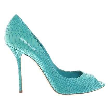 Casadei Peeptoes in turquoise