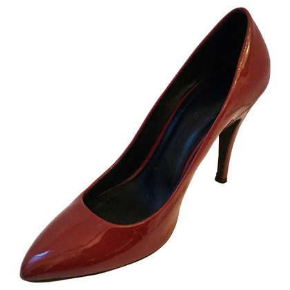 Navyboot Lacklederpumps in Bordeaux