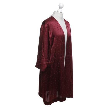 Ganni Kimono jacket in Bordeaux