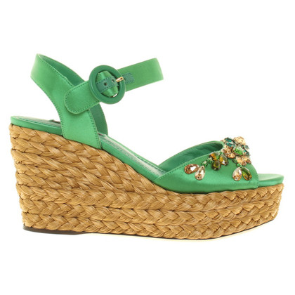 Dolce & Gabbana Wedges in Grün