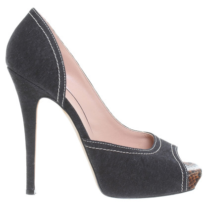 Barbara Bui Peep-toes in dark grey