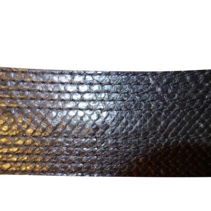 Reptile's House Gürtel aus Pythonleder