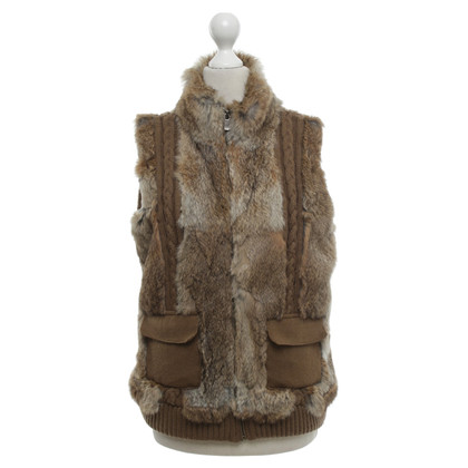 Oakwood Vest with rabbit fur trim