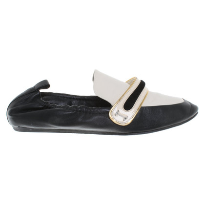 Lanvin Loafers in cream / black