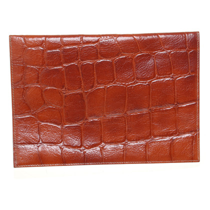 Mulberry clutch with reptile embossing