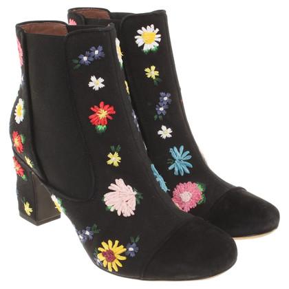 Tabitha Simmons Enkel laarzen met bloemen weefpatroon