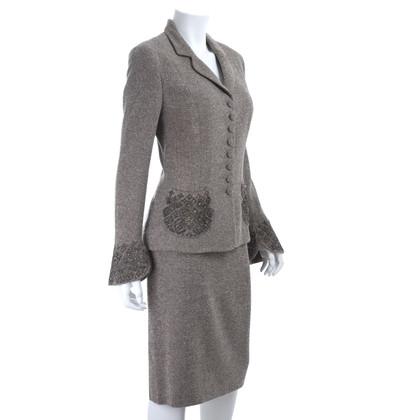 Rena Lange completo di tweed con ricami