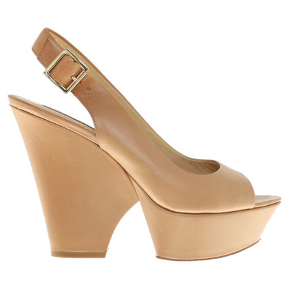 Rachel Zoe Cognac-colored wedges