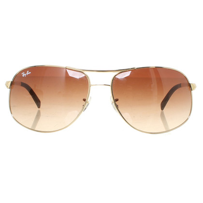 Ray Ban Sunglasses with gold-colored frame