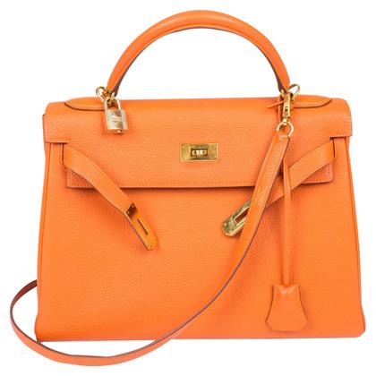 """Hermès """"Kelly Bag 32"""" & Togo lederen portemonnee"""