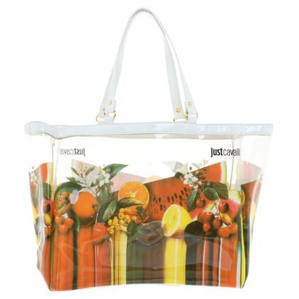 Just Cavalli Transparente Tasche mit Print