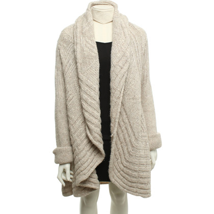 Patrizia Pepe Knitted coat in beige