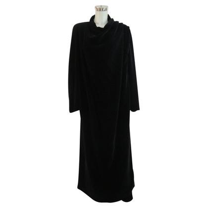 Jil Sander long velvet coat