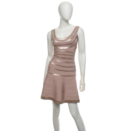 Hervé Léger Dress with sequin trim