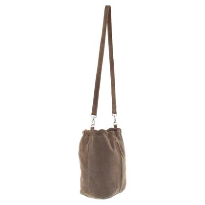 Closed Handbag made of suede