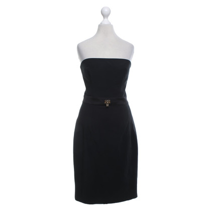 Elisabetta Franchi Bandeau dress in black