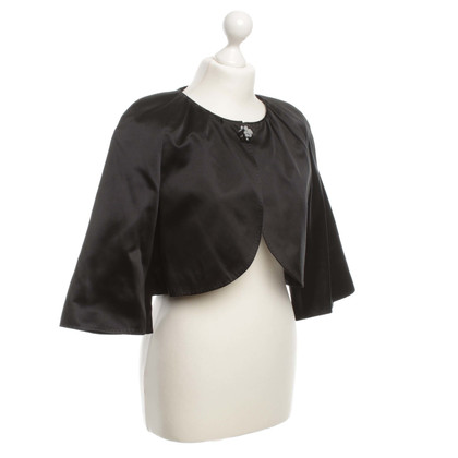 Rena Lange Silk Bolero with decorative element
