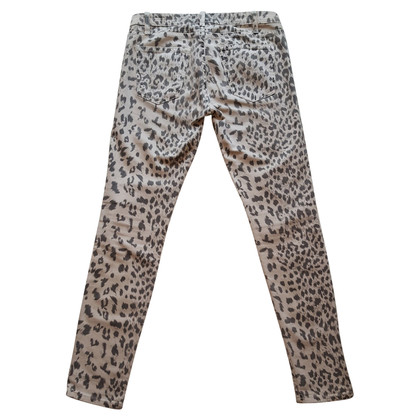 Current Elliott Skinny jeans met luipaardprint