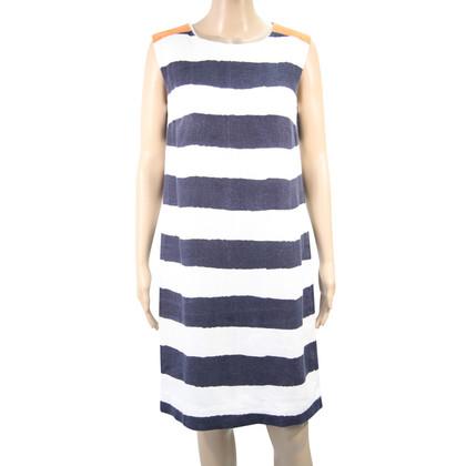 Hobbs Linen dress with stripes